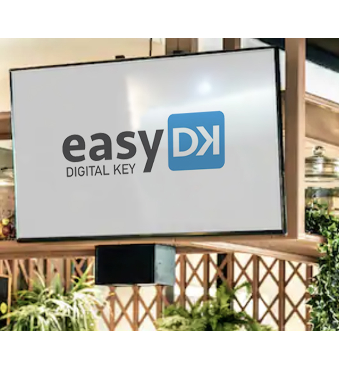 Illustration of dynamic signage solution connected with EasyDK player