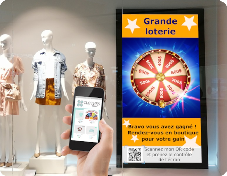 illustration of an innovative application of digital signage for retailer